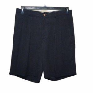 Joseph & Feiss 100% Silk Black Shorts Size 39 EUC